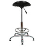 Shell Bar Stool In Black Color By The Furniture Store