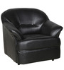 Shine One Seater Sofa in Black Colour by Parin