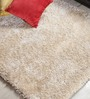 Shobha Woollens Ivory Polyester Area Rug