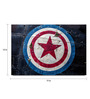 Shop Mantra Paper 19 x 13 Inch Captain America Shield Print Unframed Laminated Poster