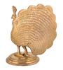 ShopEndHere Gold Brass Peacock Showpiece