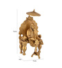 ShopEndHere Gold Brass Sai Baba Idol