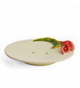 Shresmo White Polyresin Flora 4-Piece Bathroom Accessory Set