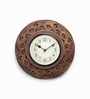 Adami Wall Clock in Gold by Amberville