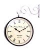Adamantow Wall Clock in Silver by Amberville