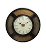 Adams Wall Clock in Gold by Amberville