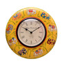 Siddhidhata Elephant Wall Clock in White by Mudramark