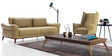 Silvio Two Seater Sofa in Straw Yellow Color by CasaCraft