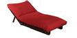 Single Futon with Mattress in Red Colour by Auspicious