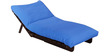 Single Futon with Mattress in Sky Blue Colour by Auspicious