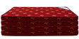 Single Size 4 Inches Thick Foam Mattress (Set of 4) in Maroon Colour by Story@Home