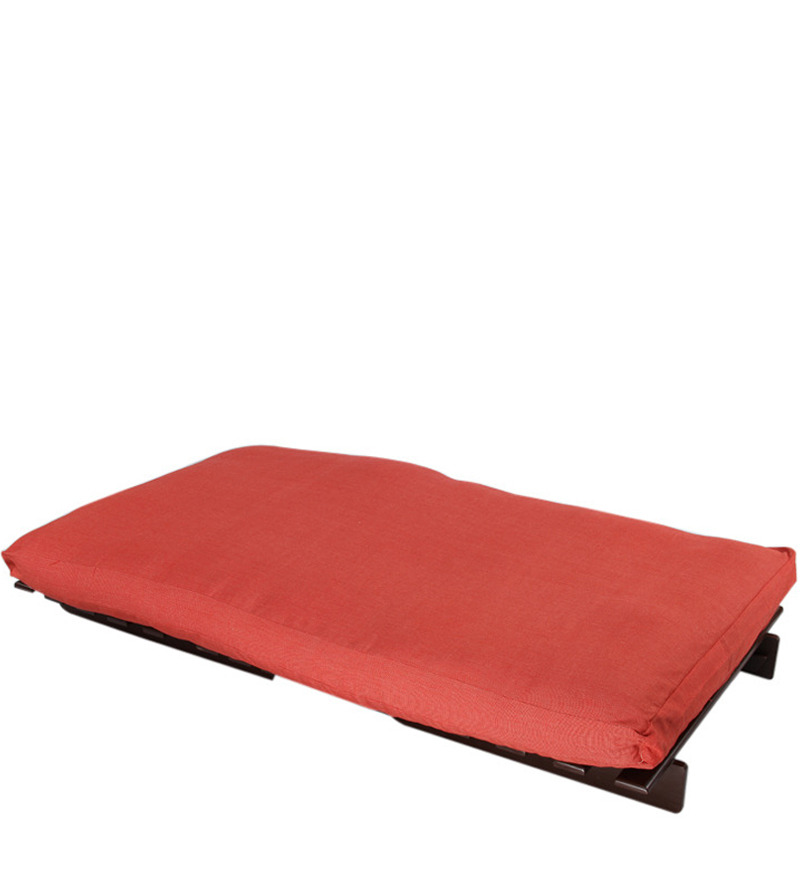 Buy Single Futon Sofa Cum Bed With Red Mattress By Arra Online Futons Futons Pepperfry