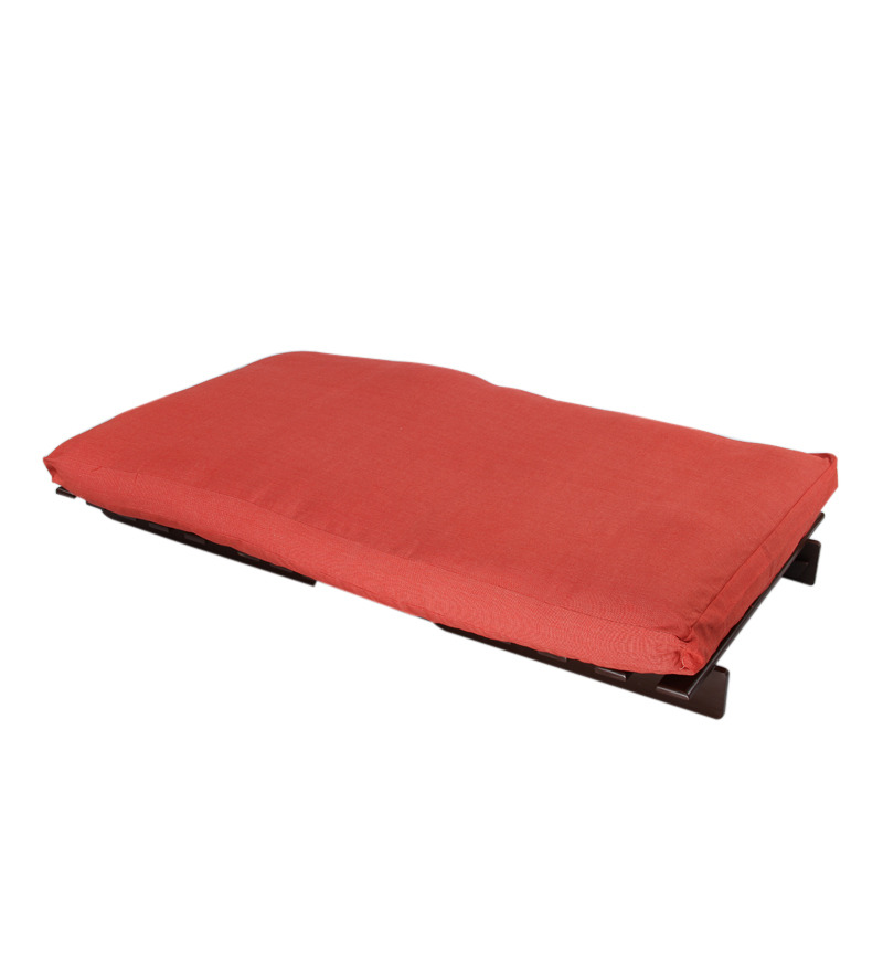 Single Futon Sofa cum bed With Red Mattress by Purple ...