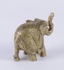 Siddhipriya Maharaja Elephant Showpiece in Yellow by Mudramark
