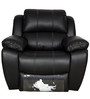 Siddis One Seater Recliner in Black Leatherette by Sofab