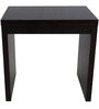 Side Table in Wenge Brown Finish by Urban Influence