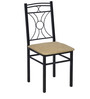 Sidney Four Seater Dining Set in Black Colour by @Home