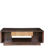 Sienna Solidwood Centre Table in Wenge & Oak Colour by HomeTown
