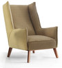 Silvio One Seater Sofa in Straw Yellow Colour by CasaCraft