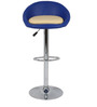 Simo Bar Chair in Blue and Cream  Color by The Furniture Store