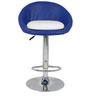 Simo Bar Chair in Blue and White  Color by The Furniture Store
