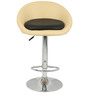 Simo Bar Chair in Cream and Black Color by The Furniture Store