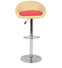 Simo Bar Chair in Cream and Pink Color by The Furniture Store