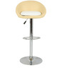 Simo Bar Chair in Cream and White Color by The Furniture Store