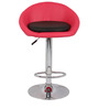 Simo Bar Chair in Pink and Black Color by The Furniture Store