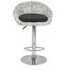 Simo Bar Chair in Print and Black Color by The Furniture Store