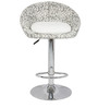 Simo Bar Chair in Print and White Color by The Furniture Store