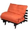 Single Futon Sofa cum bed With Orange Mattress by ARRA
