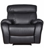 Single Seater Half Leather Recliner Rocker Sofa in Black Colour by Star India
