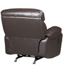 Single Seater Half Leather Recliner Rocker Sofa in Brown Colour by Star India