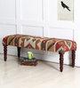 Sivaka Kilim Bench in Honey Oak Finish by Mudramark