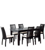 Drina Six Seater Dining Set in Cappuccino Colour by CasaCraft