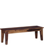 Salem Six Seater Dining Set with Bench in Provincial Teak Finish by Woodsworth