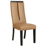 Six Seater Dining Set with Glass Top & High Back Chairs in Brown Colour by Parin