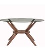 Six Seater Dining Table in Rust Brown Colour by Parin