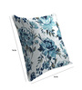 Skipper Blue Viscose & Polyester 16 x 16 Inch Floral Cushion Covers - Set of 3