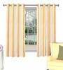 Skipper Brown Cotton & Polyester Window Curtain - Set of 2