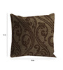 Skipper Brown Cotton & Viscose 16 x 16 Inch Indian Ethnics Cushion Covers - Set of 3