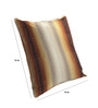 Skipper Brown Polyester & Viscose 16 x 16 Inch Stripes Cushion Covers - Set of 3