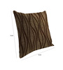 Skipper Brown Viscose & Cotton 16 x 16 Inch Cushion Covers - Set of 3