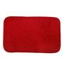 Skipper Red Polyester 24 x 16 Inch Solids Bath Mat