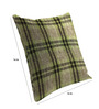 Skipper Green Viscose & Polyester 16 x 16 Inch Geometric Pattern Cushion Covers - Set of 3