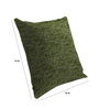 Skipper Green Viscose & Polyester 16 x 16 Inch Textures Cushion Covers - Set of 3