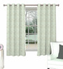 Skipper Green Viscose & Polyester Abstract Pattern Window Curtain - Set of 2