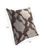 Skipper Grey & Red Viscose & Polyester 16 x 16 Inch Geometric Patterns Cushion Covers - Set of 3