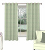 Skipper Grey Polyester Window Curtain - Set of 2